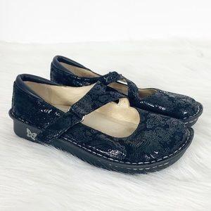 Alegria Jill Black Paisley Mary Jane Comfort Shoes